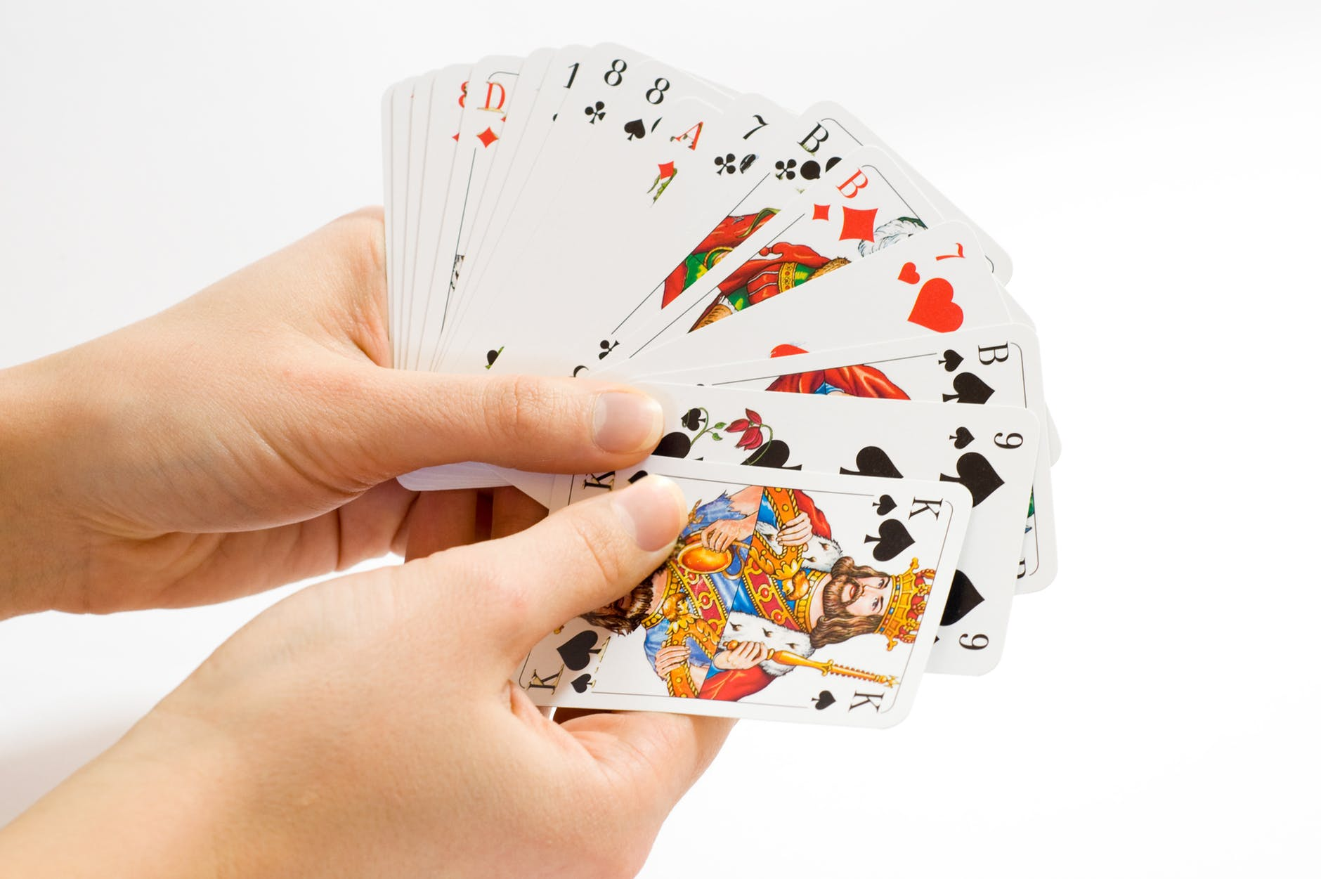 holding cards