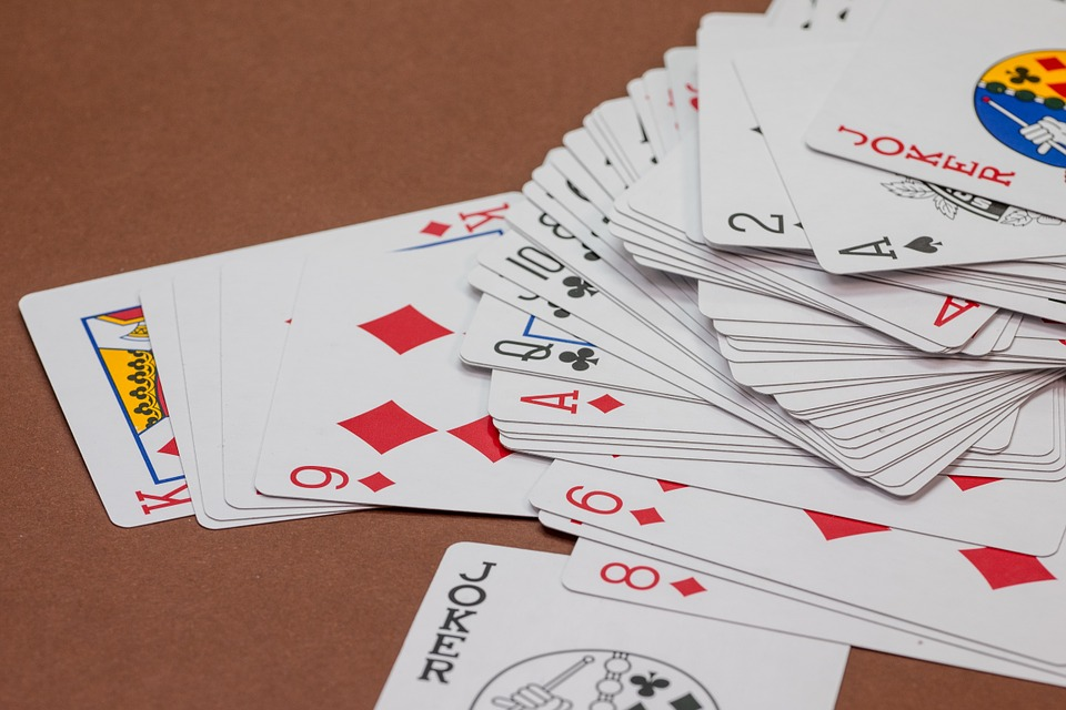 Cuarenta Playing Cards with Complete Set of Cards on a study table
