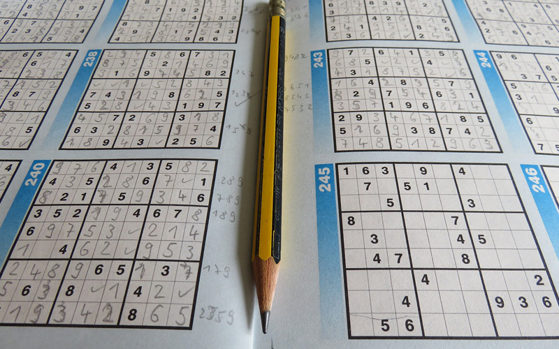 sudoko game with pencil