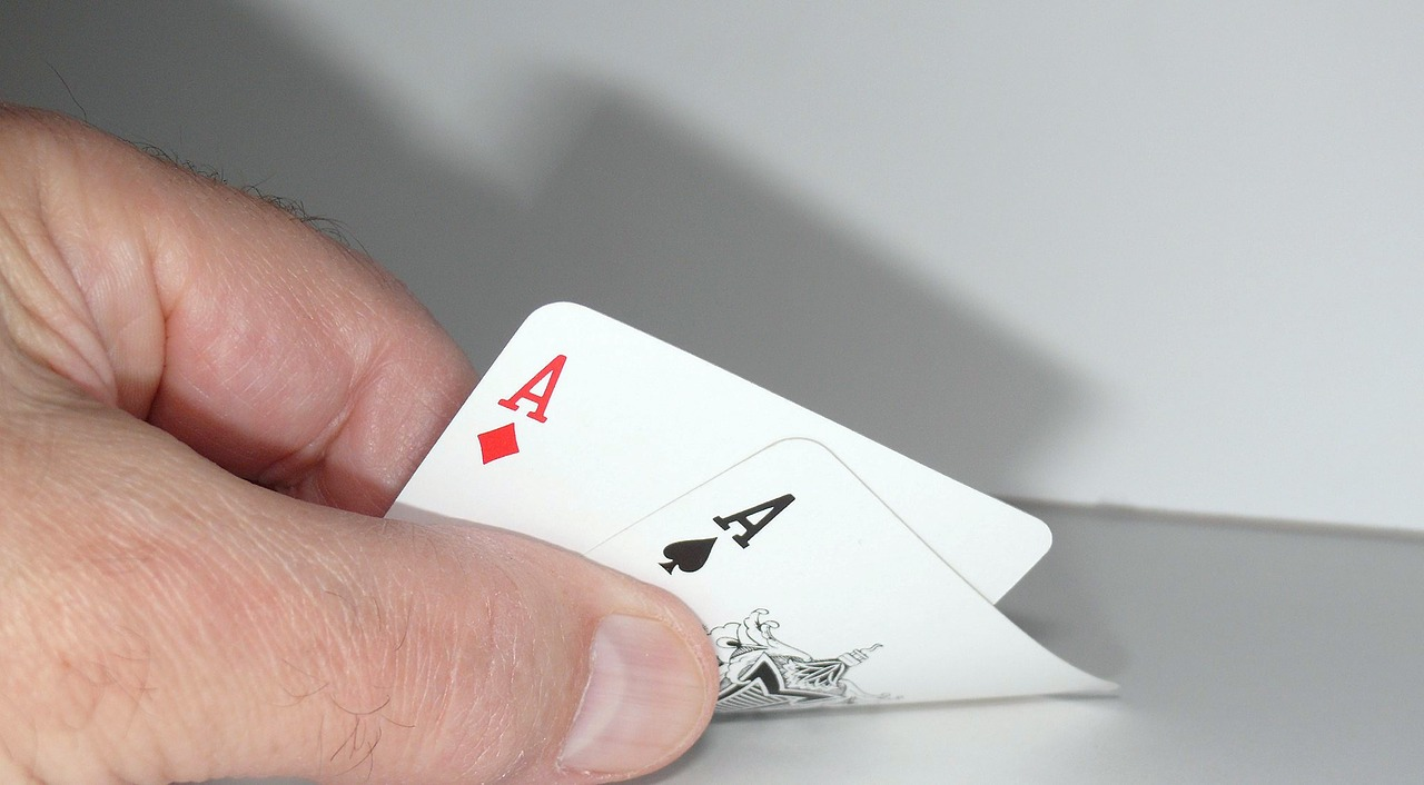 two ace cards