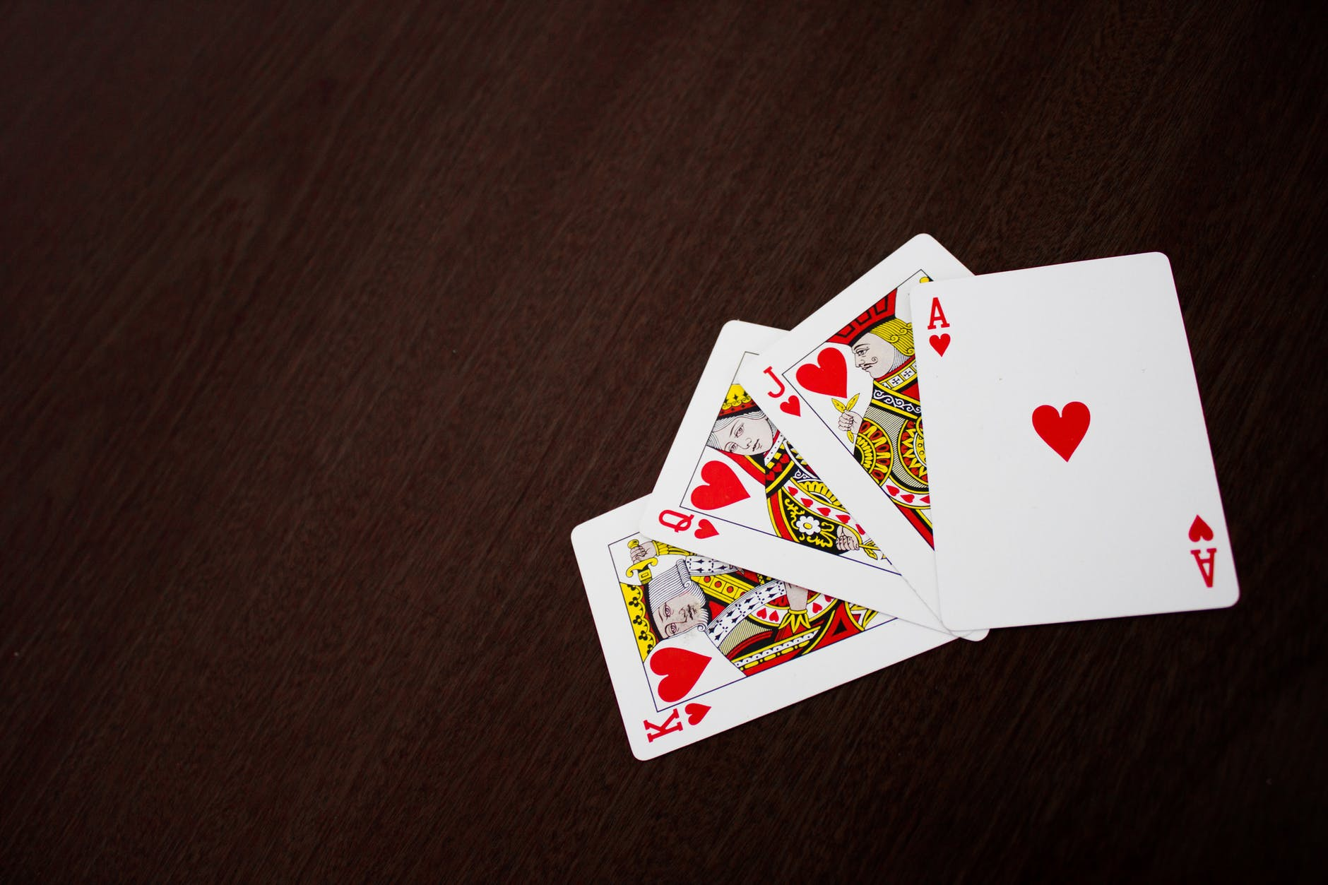 Heart playing cards